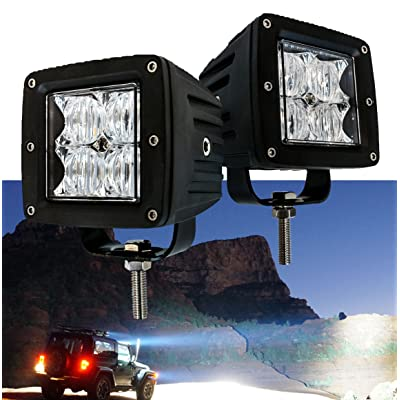 OZ-USA 4D POD Flood LED Lights Fog ATV Offroad 3 x 4 Race Beam Truck Motorcycle Cube: Automotive