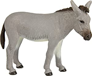 Safari Ltd. Farm Donkey – Realistic Hand Painted Toy Figurine Model – Quality Construction from Phthalate, Lead and BPA Free Materials – For Ages 3 and Up