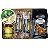 Carnivore Club Meat and Cheese Gift Tin - 5 Item Gift Set Including Meats, Cheese & Dipping Mustard - Meat Sampler…
