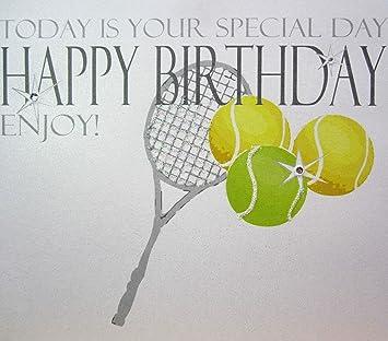 Carte Anniversaire Tennis.White Cotton Cards N31 Tennis Aujourd Hui Est Votre Jour