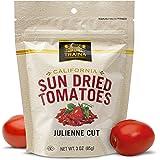 Traina Home Grown California Sun Dried Julienne Cut Sun Dried Tomatoes - 3 oz.,12 pk - Non GMO, Gluten Free, Kosher…