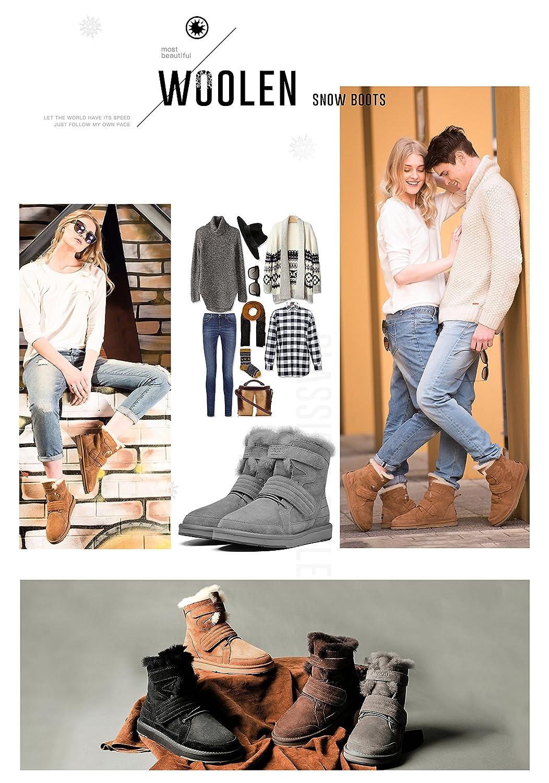 50d54e28a ... AU MU Women s Full Fur Sheepskin Suede Winter Snow Boots B073F1YZDF  B073F1YZDF B073F1YZDF 5 B(M
