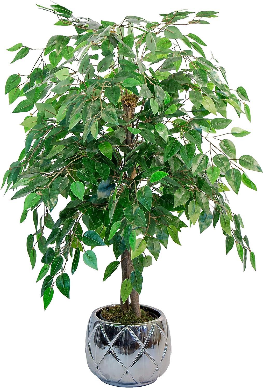 Maia Shop Ficus Troncos Naturales, Elaborados con los Mejores Materiales, Ideal para Decoración de hogar, Árbol, Planta Artificial (105 cm), Mixtos