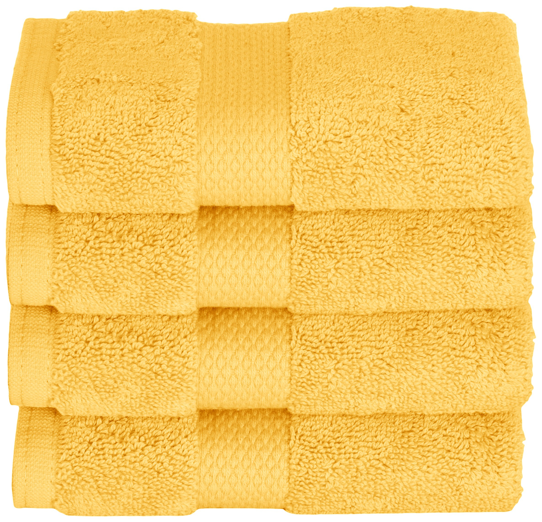 Daisy House pcs 4 Piece Mesa Wash Cloths, Bright Yellow by Daisy House