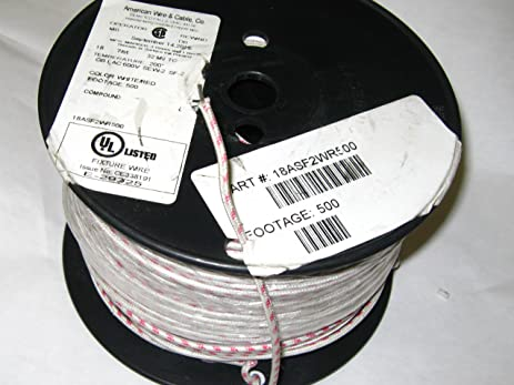 500-ft) Fixture Wire 18 GA 7/st SF-2 SEW-2 Insulated Cloth Covered ...