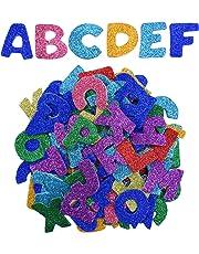 Pegatinas de Espuma Brillantes Pegatinas de Letras Auto Adhesivas, Letras A a Z, 5 Sets, Colores Variados, Totalmente 130 Piezas