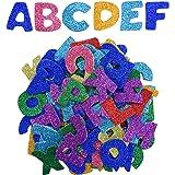 Pegatinas de Espuma Brillantes Pegatinas de Letras Auto Adhesivas, Letras A a Z, 5 Sets, Colores Variados, Totalmente…