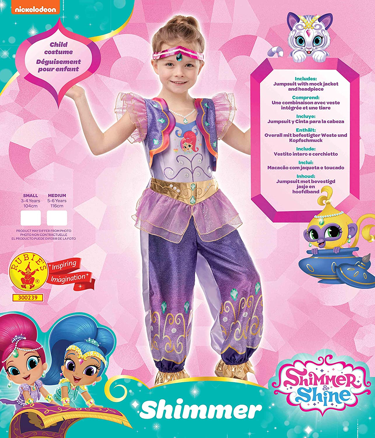 Rubies Official Shimmer & Shine Disfraz, Multicolor, small ...
