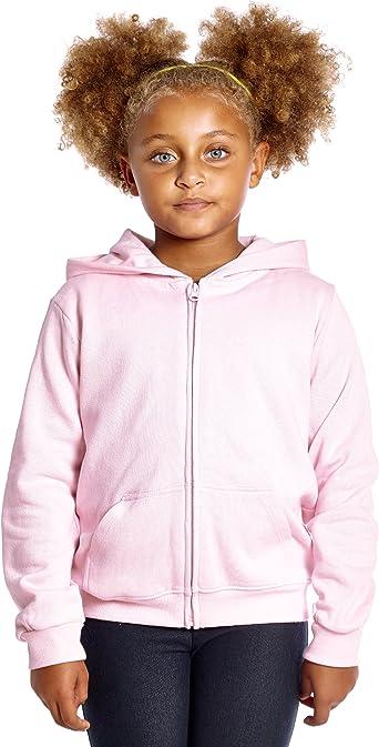 Kids American Fleece Zip Up Hoody Boys Girls Zipper Top