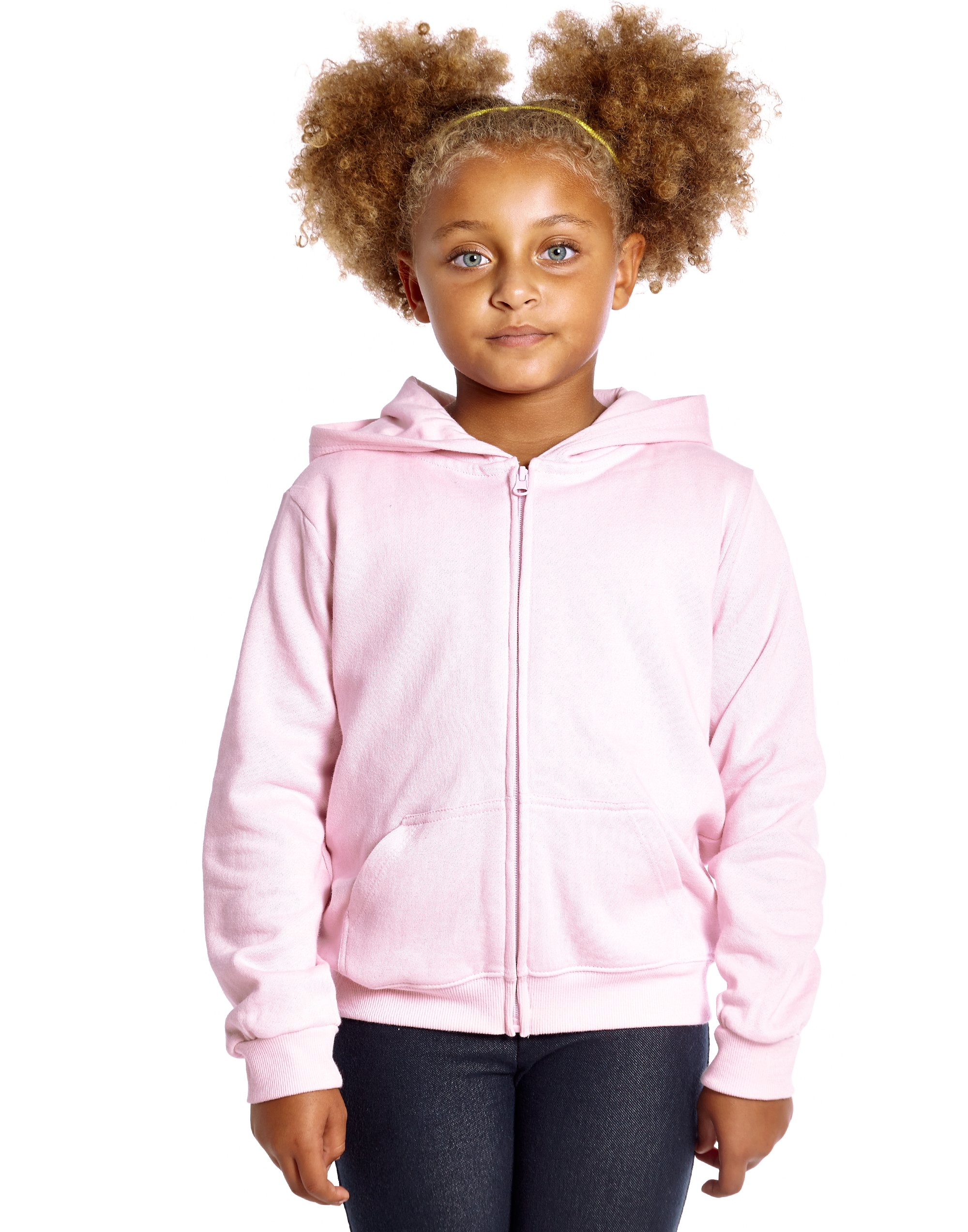 Leveret Kids Cotton Hoodie (12 Years, Light Pink)