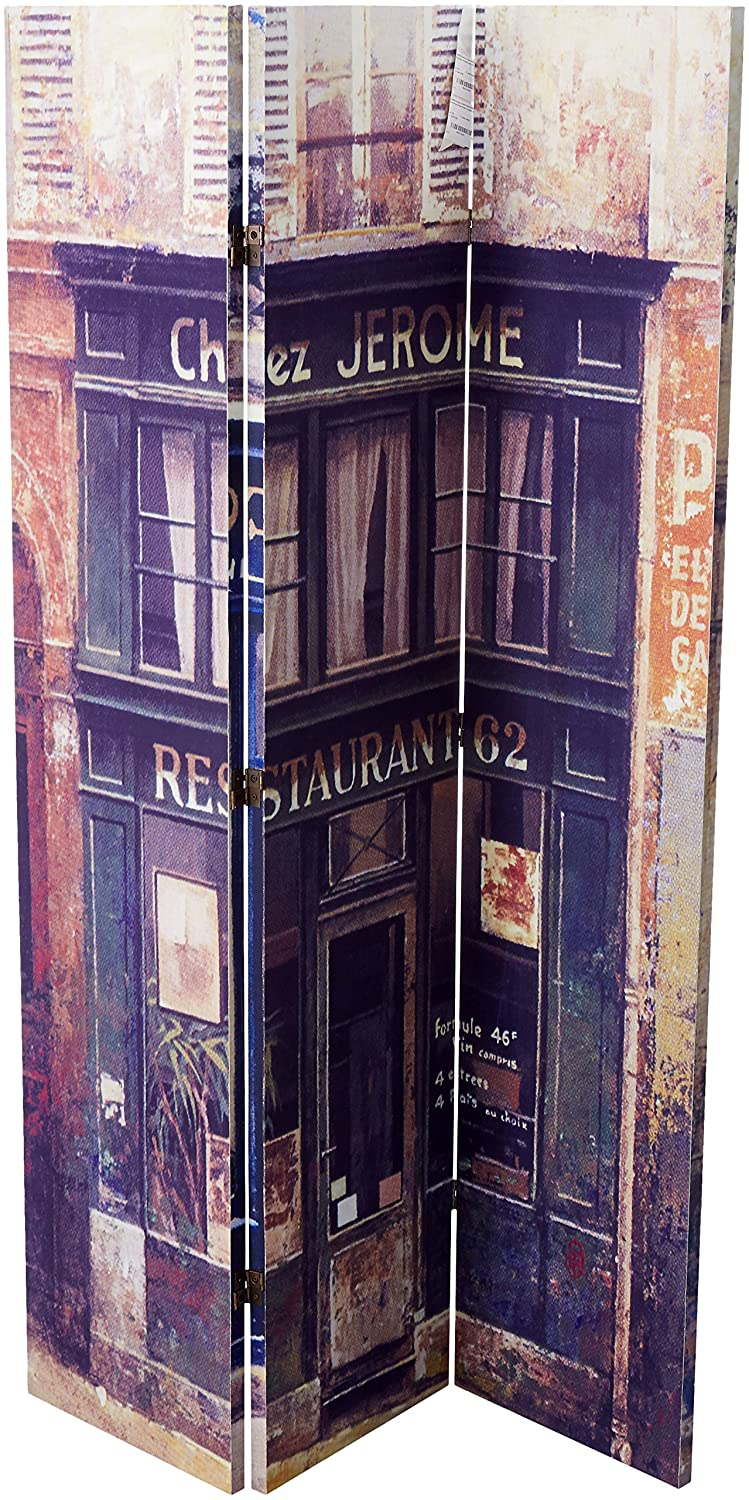 Roundhill Furniture 3-Panel Double Sided Painting Canvas Room Divider Screen, European Store RD035