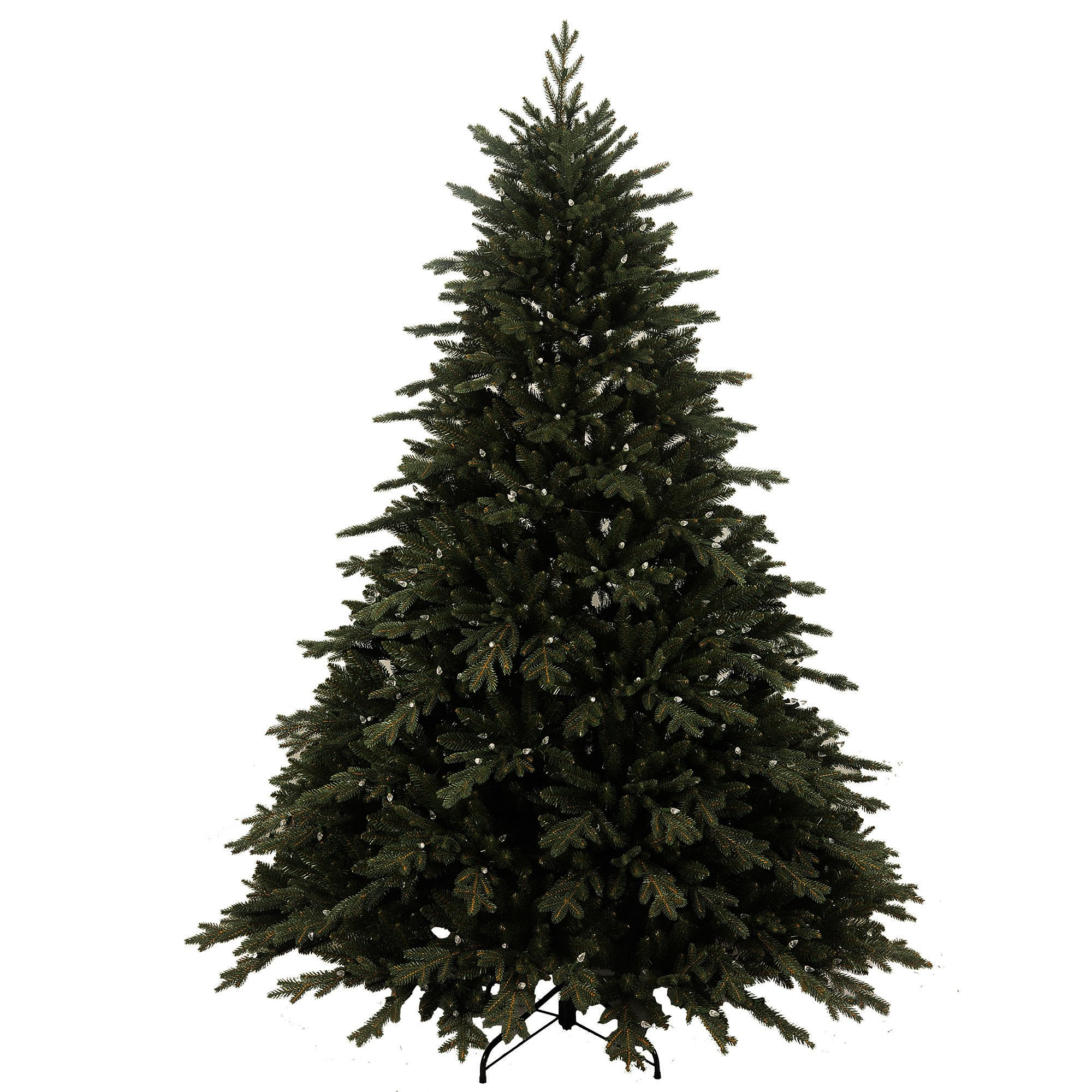 Artificial Christmas Tree. This Fake 7.5 Foot Xmas Pine Tree, Norwegian Spruce, Densely, Lush, Easy-to-shape Green Branches Looks Natural. Great For Indoor, Holiday Season Party Decor & Festive Mood.