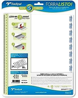 Sadipal 2208/2202 - Blíster 5 forros para libros, 28.5 cm ...