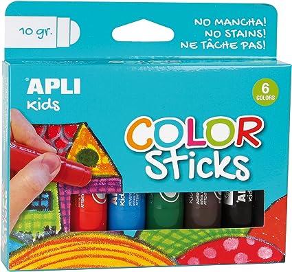 Oferta amazon: APLI Kids 14227 - Color Sticks 10 g, Multicolor, 6 u.