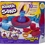 Kinetic Sand, Sandisfying Set with 2lbs of Sand and 10 Tools, for Kids Aged 3 and up