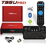 Latest 2017 Model BPSMedia T95U Android 7.1 Bluetooth TV Box 3GB / 32GB Amlogic S912 64 Bits Octa Core and Supporting 4K (60Hz) Full HD /H.265 /WiFi 2.4/5GHz /FREE WIRELESS KEYBOARD