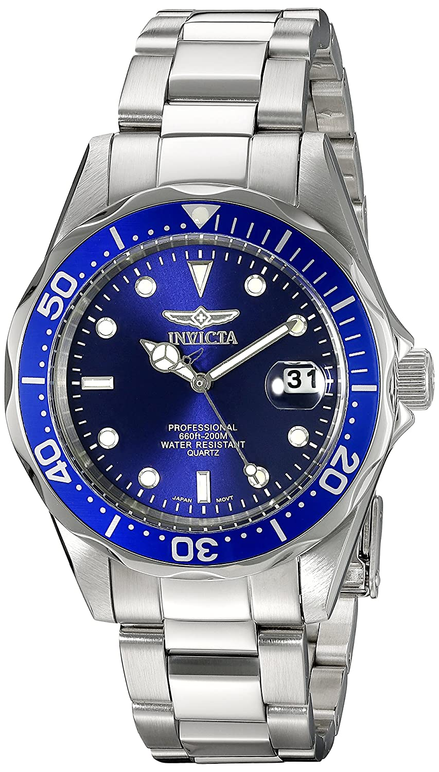 Invicta Men's 9204 Syb Pro Diver Analog Display Quartz Silver Watch by Invicta