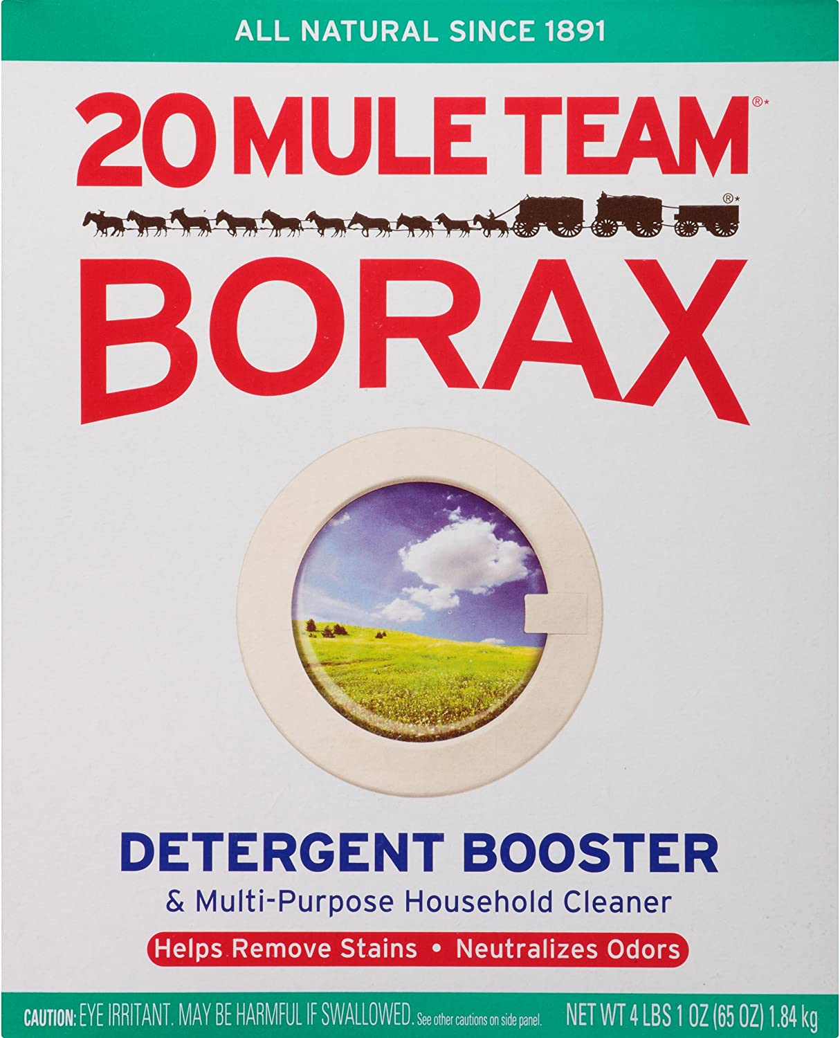 20 Mule Team Borax Laundry Booster, 65 Ounce, Pack of 6