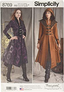 Sizes 6-14 NEW Simplicity 8482 Matrix Trench Coat Costume Sewing Pattern