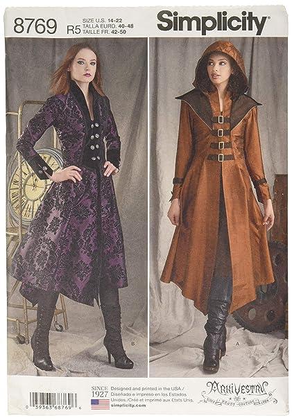 Amazon com: Simplicity 8769 Women's Medieval Cosplay and Ren