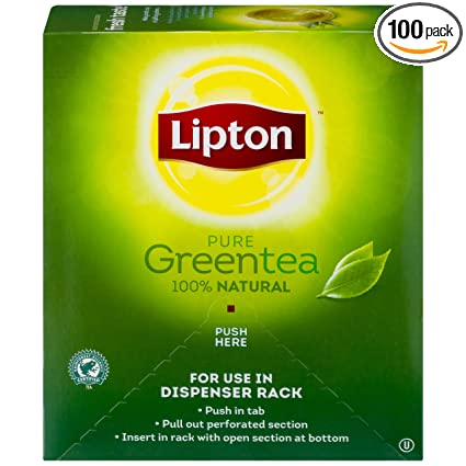 Amazon Com Lipton Green Tea 100 Percent Natural 100 Ct Grocery Gourmet Food