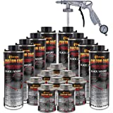 Custom Coat Black 2 Gallon (8 Quart) Urethane Spray-On Truck Bed Liner Kit with Spray Gun and Regulator - Easy 3 to 1 Mix Rat