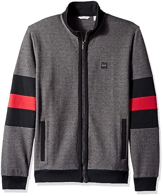 768148074 Calvin Klein Men's Lightweight Zip Up Weekend Layer Sweater