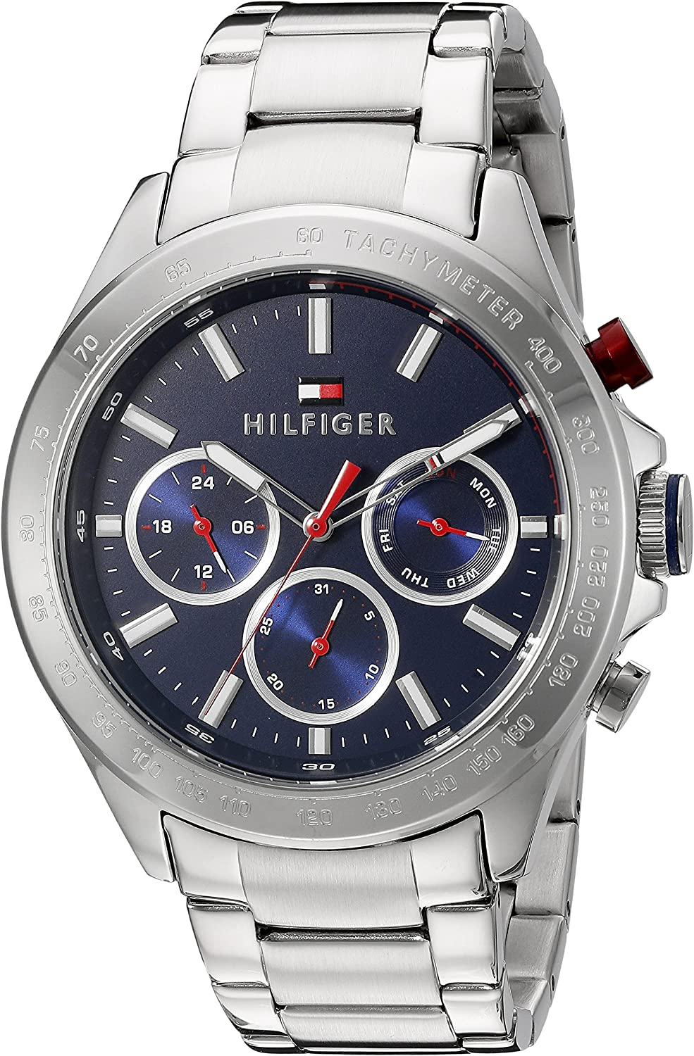 Tommy Hilfiger Men s 1791228 Hudson Analog Display Japanese Quartz Silver Watch
