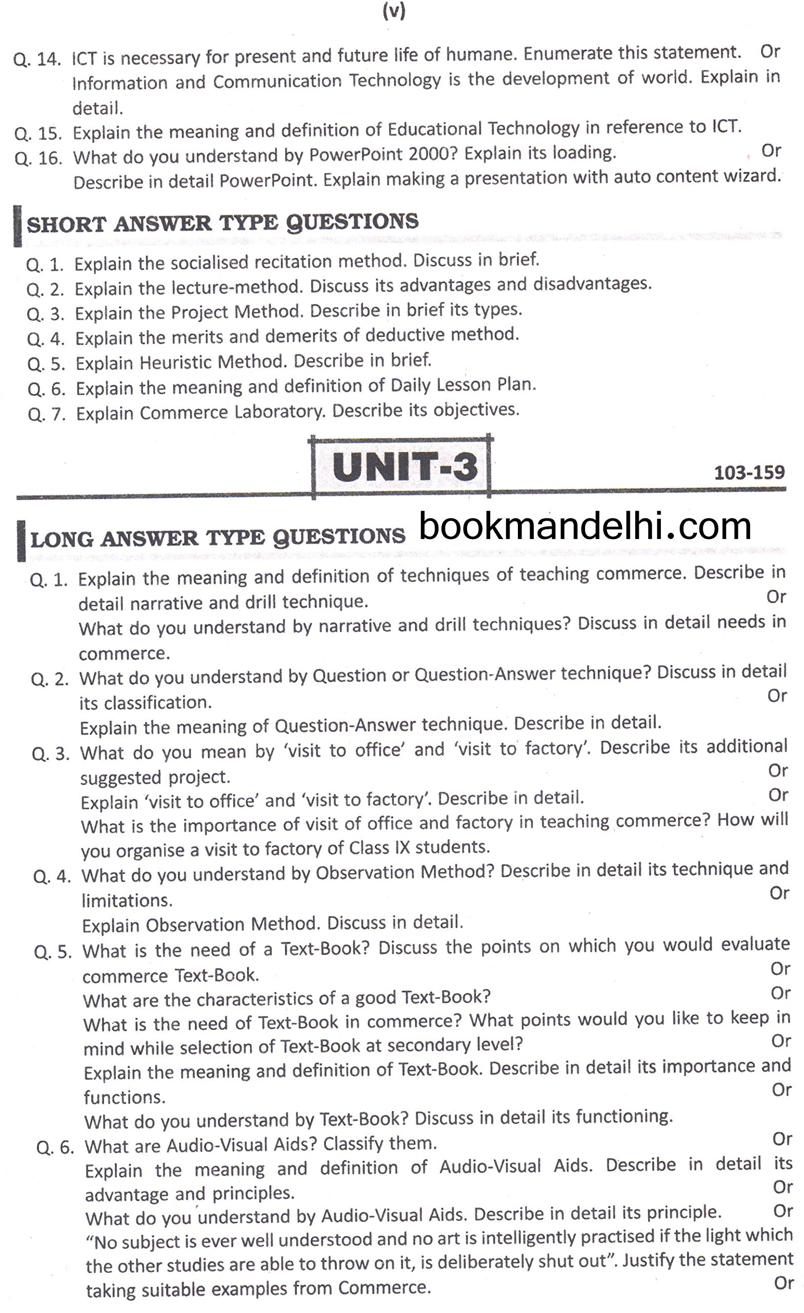 Buy Question Bank (Pedagogy Of Commerce) Book Online At Low Prices In India  | Question Bank (Pedagogy Of Commerce) Reviews U0026 Ratings   Amazon.in