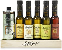 Infused Liquid Spice Grapeseed Oil Gift Set for cooking and salads, 6 Flavors