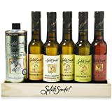 Healthy Infused Grapeseed Oil for Dipping and Finishing, Gift Set for cooking and salads, 6 Flavors