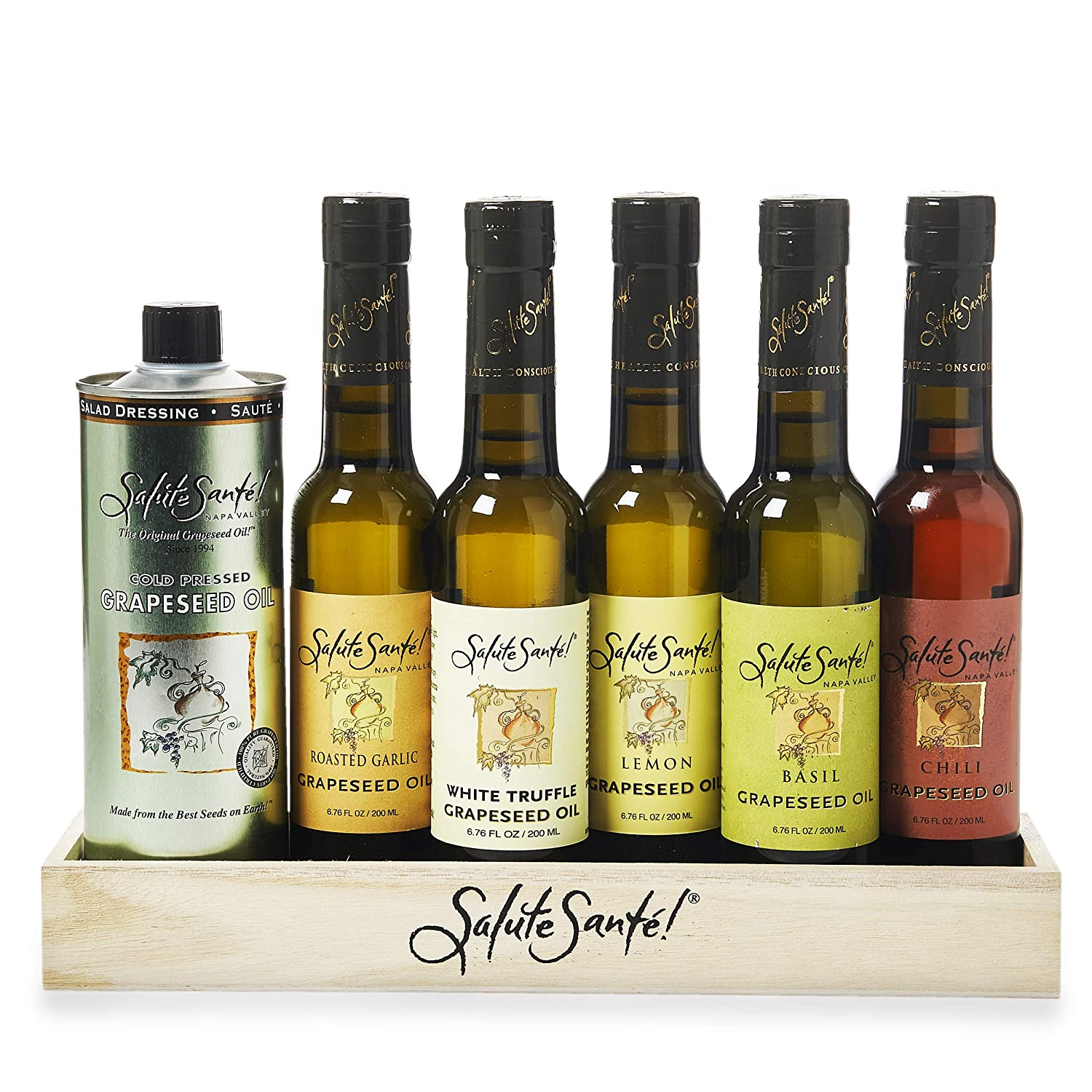 Infused Liquid Spice Grapeseed Oil Gift Set for cooking and