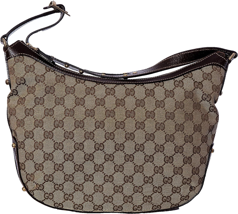 Gucci - Bolso al hombro de cuero para mujer marrón beige Bag