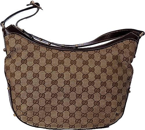 Gucci - Bolso al hombro de cuero para mujer marrón beige Bag: Amazon.es: Zapatos y complementos