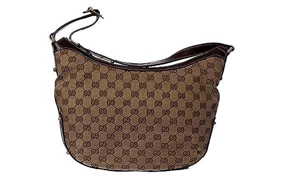 1b73f40cf Gucci - Bolso al hombro de cuero para mujer marrón beige Bag: Amazon.es:  Ropa y accesorios