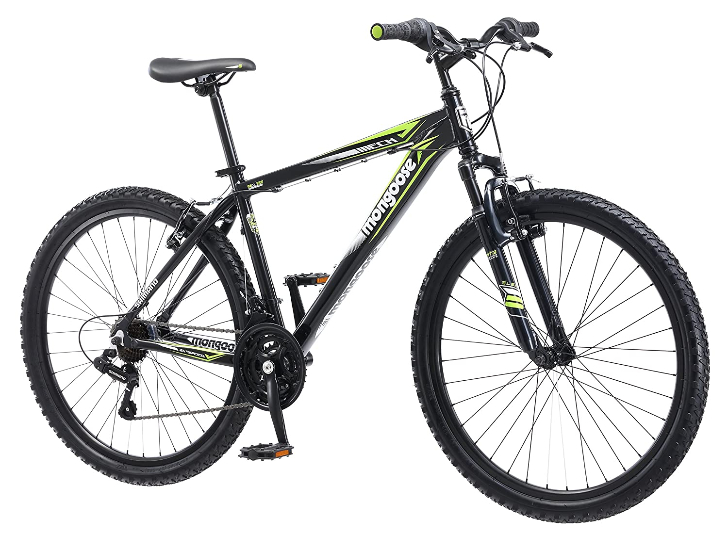 fcae332ab18 Amazon.com : Mongoose Men's Mech Mountain Bicycle, 18