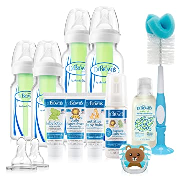 Amazon.com: Dr. Brown s opciones bebé botellas Deluxe Set: Baby