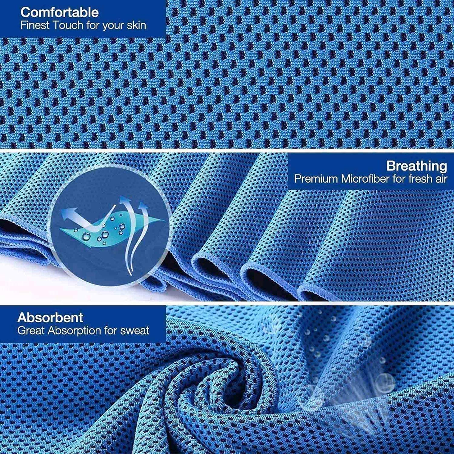 Gym Sport Workout,Camping Soft Breathable Chilly Towel Running Cooling Towel Workout /& More Activities MJ-0001 Ice Towel for Neck Microfiber Towel for Yoga 40x12 Fitness