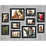 10 piece matte black picture frame set