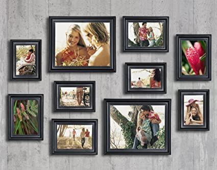 Amazoncom 10 Piece Matte Black Picture Frame Set