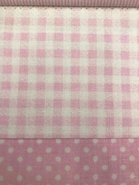 Perrone 2.0 Tela al metro Algodón Liso Rosa quadratino Nouvelle Altura Tela 2,90 MT X 0,50: Amazon.es: Hogar