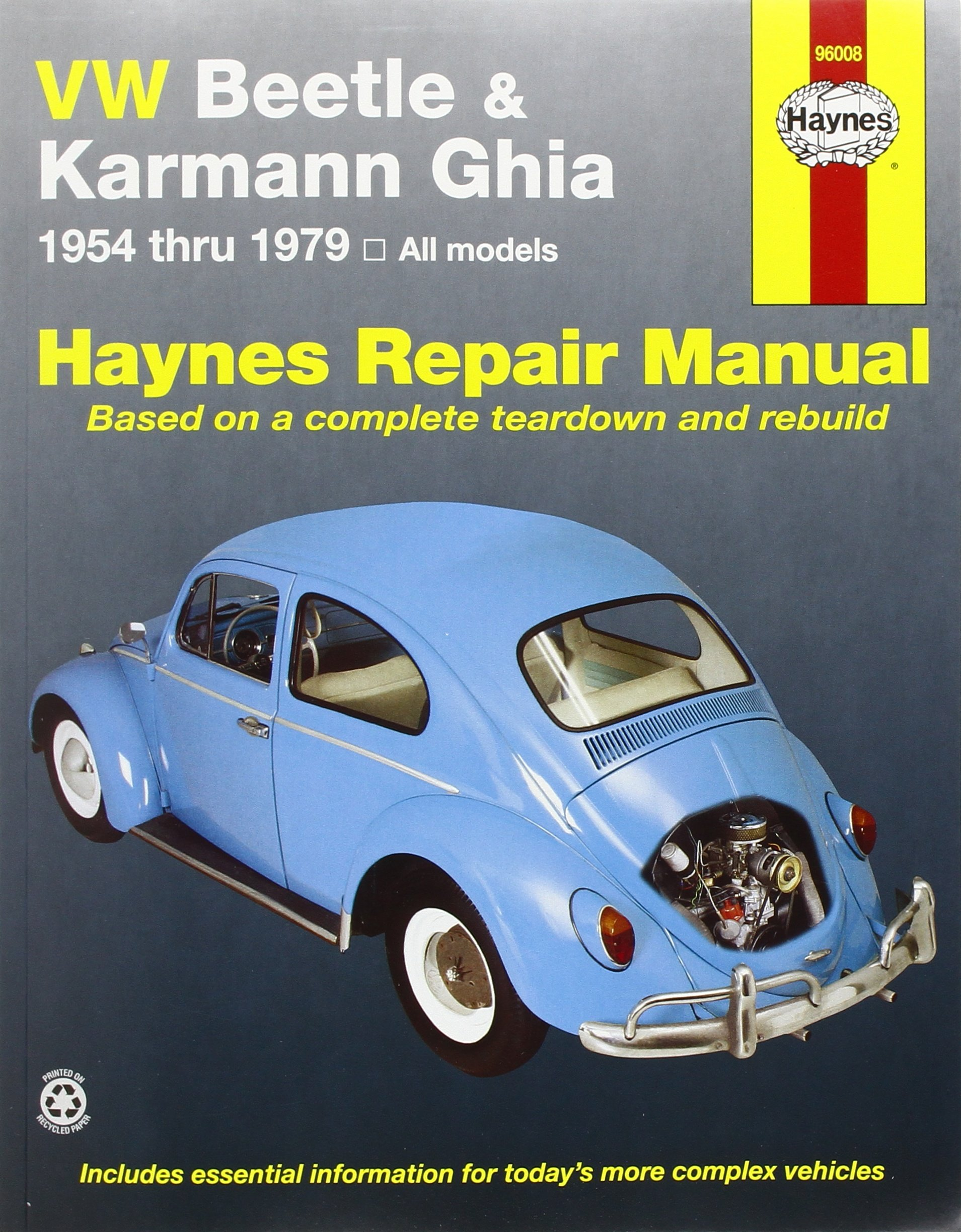 vw beetle karmann ghia 1954 through 1979 all models haynes repair rh amazon com 1938 Beetle 1968 Beetle Convertible