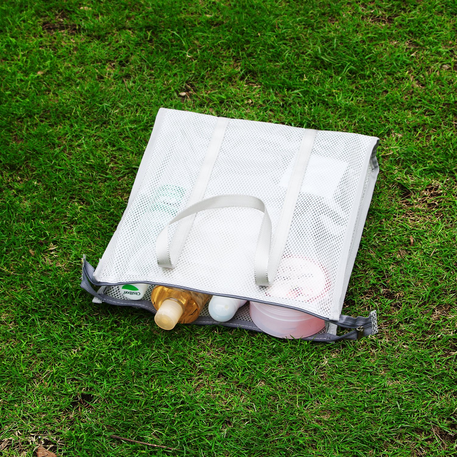 Beach Bag, Clear Beach Handbag with Zipper Closure, Non - Sticky Sand, Perfect for Work, School, Sports Games Concerts and Beach.