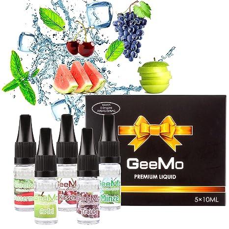 GeeMo 5 X 10ml E-líquido sin nicotina, nueva fórmula de alto grado para