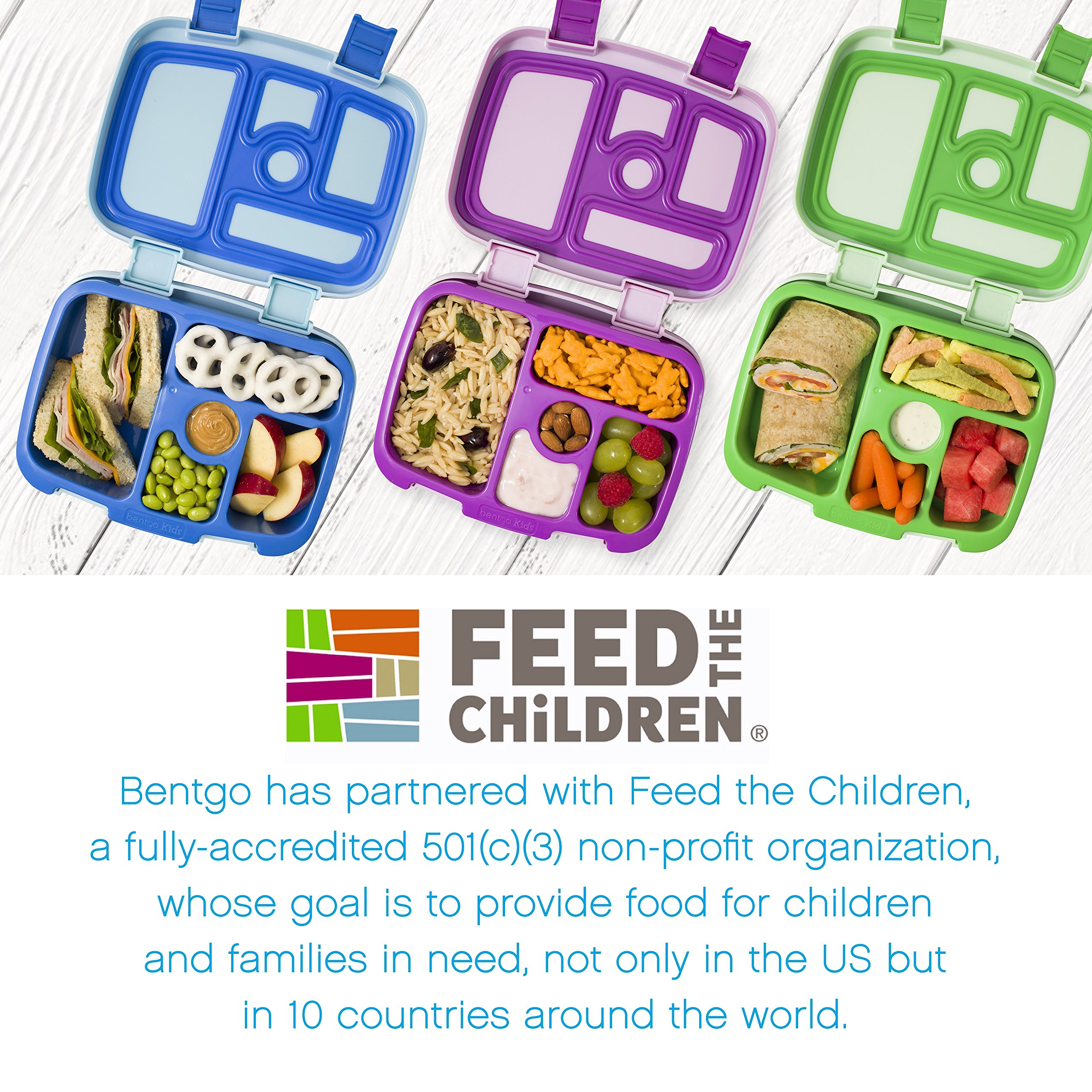 Bentgo Kids Childrens Lunch Box - Bento-Styled Lunch Solution Offers Durable, Leak-Proof, On-the-Go Meal and Snack Packing by Bentgo (Image #6)