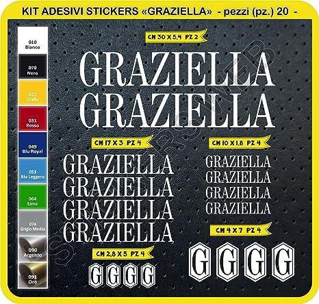 Adesivi Bici Graziella Kit Adesivi Stickers 20 Pezzi Scegli Subito Colore Bike Cycle Pegatina Cod0098