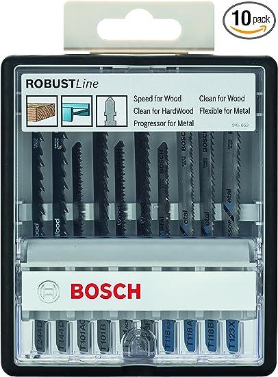 pack de 10 135/° 135/° Bosch 2 607 010 535 Set de 10 brocas para metal Robust Line HSS-G 1; 2; 3; 4; 5; 6; 7; 8; 9; 10 mm
