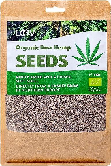 Semillas de cáñamo enteras crudas orgánicas, 1kg, no tratadas ...