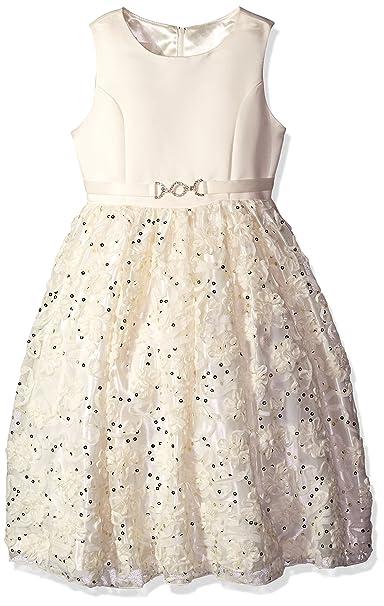 American Princess - Vestido de Fiesta con Lentejuelas para niña,  Candlelight, 5 b0f523263b