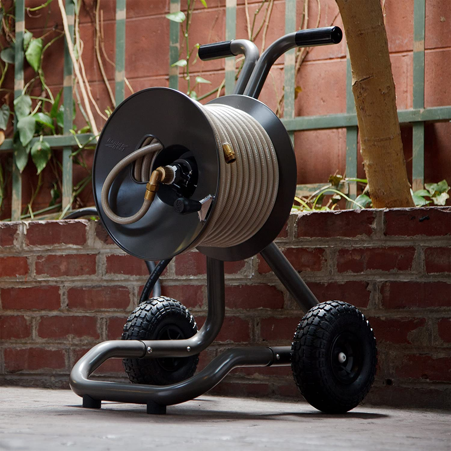 Best Garden Hose Reel Cart (With Wheels) Reviews And
